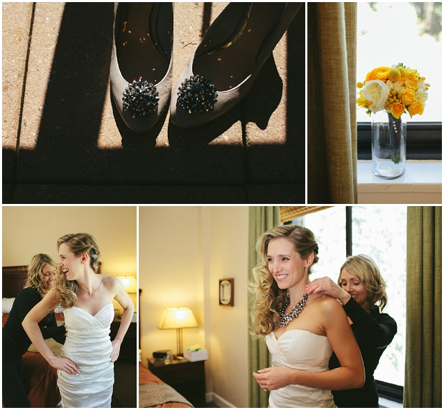 Contemporary Chic   Grey & Yellow: Real Wedding