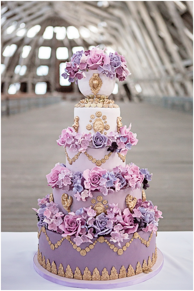 Marie Antoinette - a decadent purple ombre cake