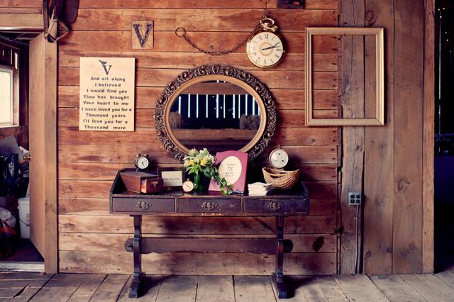 Homemade: Vintage Clock Inspired | Barn Wedding