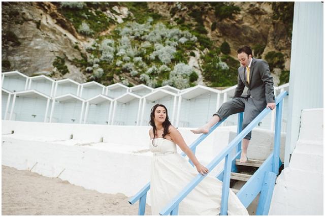 DIY Yellow: Cornish Seaside   Real Wedding