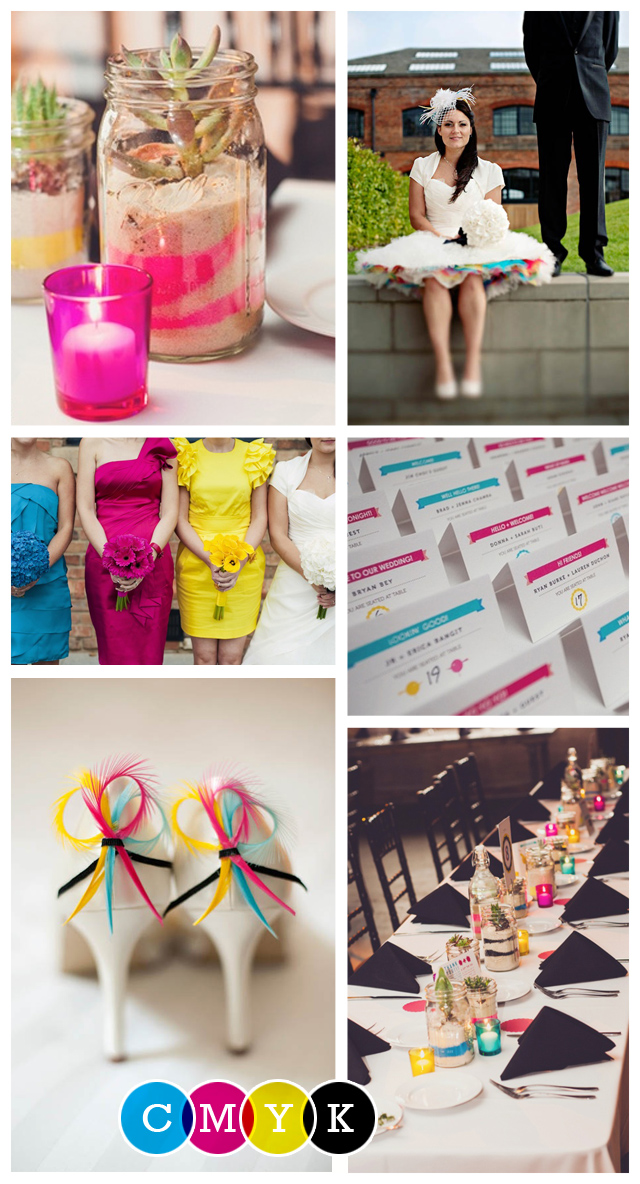 CMYK Wedding Inspiration: Mood Board
