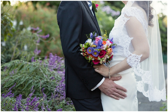 A Wedding With A View: Rainbow Bouquet   Real Wedding