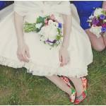 Quirky: Kimono Print   Unique Bridal Shoes