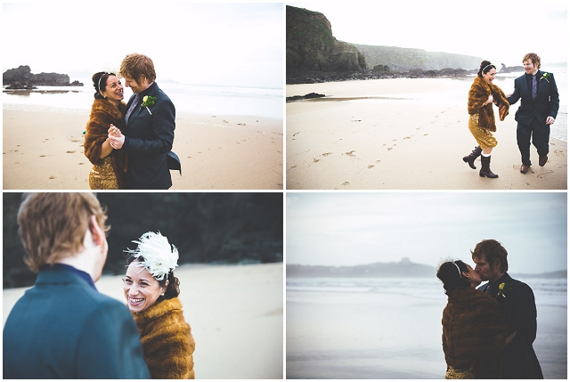 New Year's Eve: Intimate Cornish Beach | Real Wedding