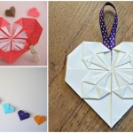 Wedding DIY Tutorial: Origami Heart Decorations | Place Cards