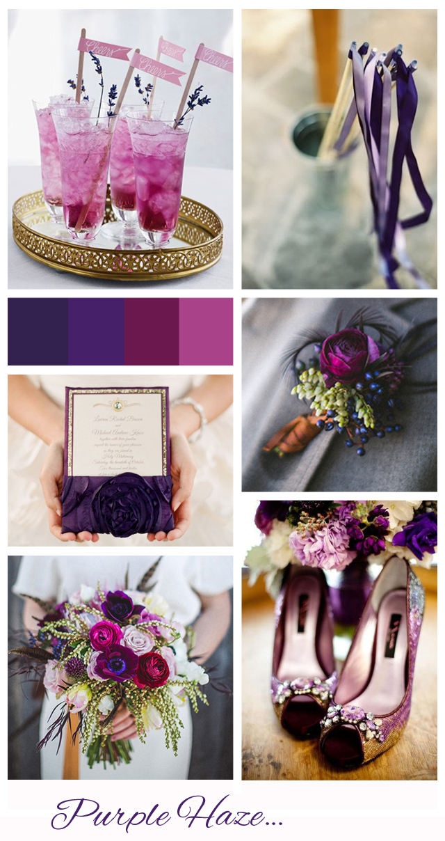 Purple Haze: Wedding Inspiration | Mood Board