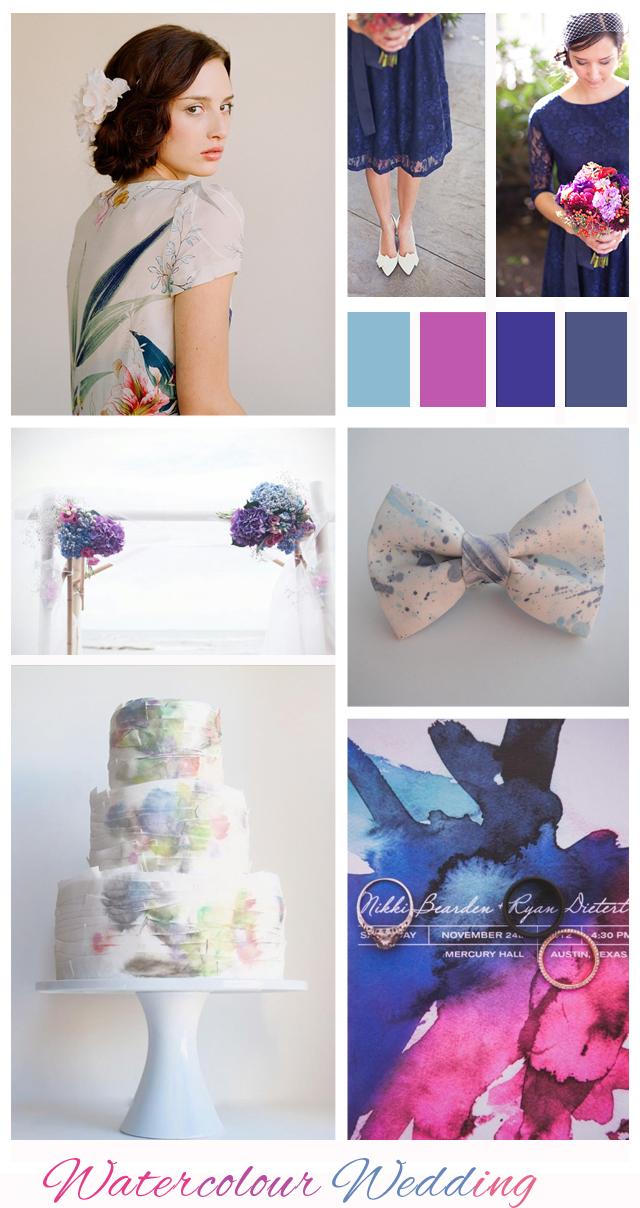 Watercolour: Wedding Inspiration | Mood Board