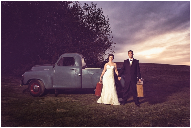 Rustic Country: Vintage Travel | Real Wedding