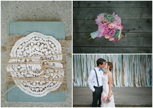 Modern Vintage: Rustic Touches | Real Wedding