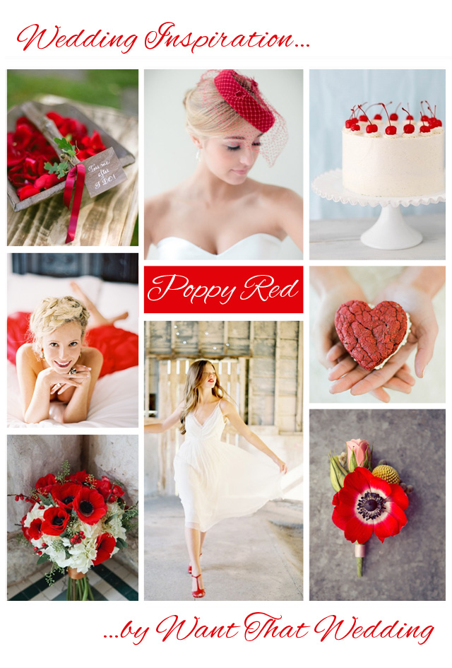 Poppy Red: Pantone Colour 2013 | Wedding Inspiration & Ideas