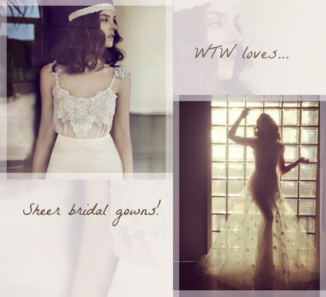 Sheer   Nude Wedding Gowns: Bridal Fashion