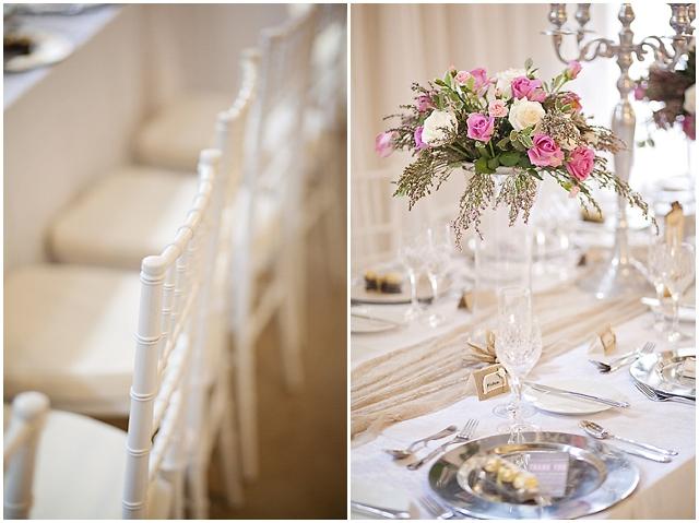 Super Pretty: Silver, Pink + Cream | Real Wedding