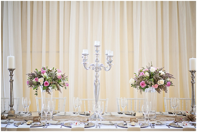Super Pretty: Silver, Pink + Cream | Real Wedding