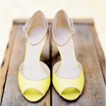 zesty lemon wedding shoes