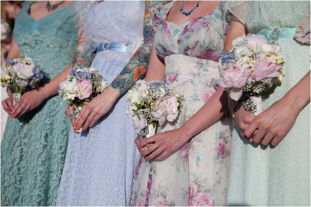 Original vintage 1940s bridesmaid dresses