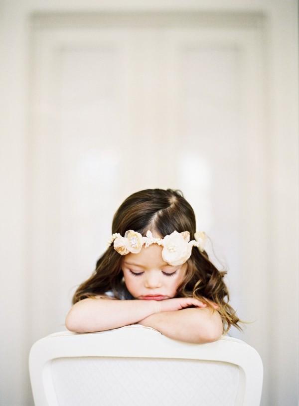 flower girl with jannie baltzer headpiece