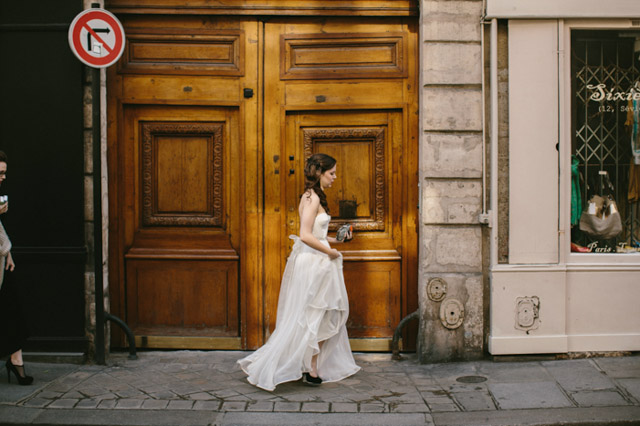 french elopement wedding street photography