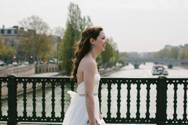 Notre Dame + Cherry Blossoms | Real French Wedding
