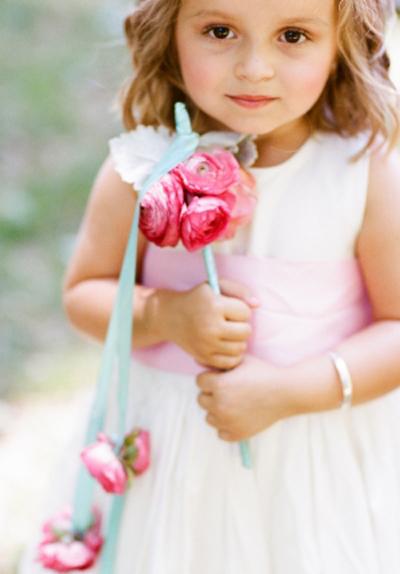 Flower girl baton | Beautiful Flower Girls | Inspiration + Ideas