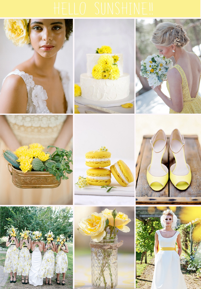 Hello Sunshine | Yellow Wedding Inspiration