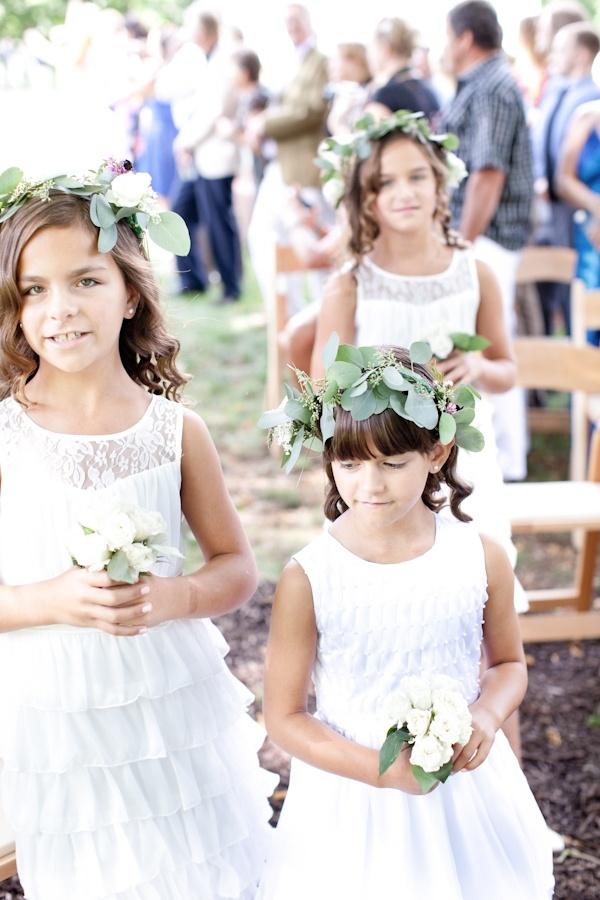 Eucalyptus Floral Crown | Beautiful Flower Girls | Inspiration + Ideas