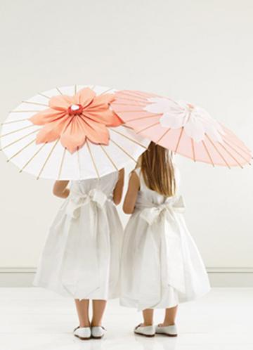 Parasols | Beautiful Flower Girls | Inspiration + Ideas