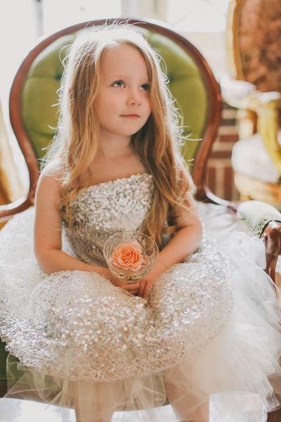 Sparkly sequin dress | Beautiful Flower Girls | Inspiration + Ideas