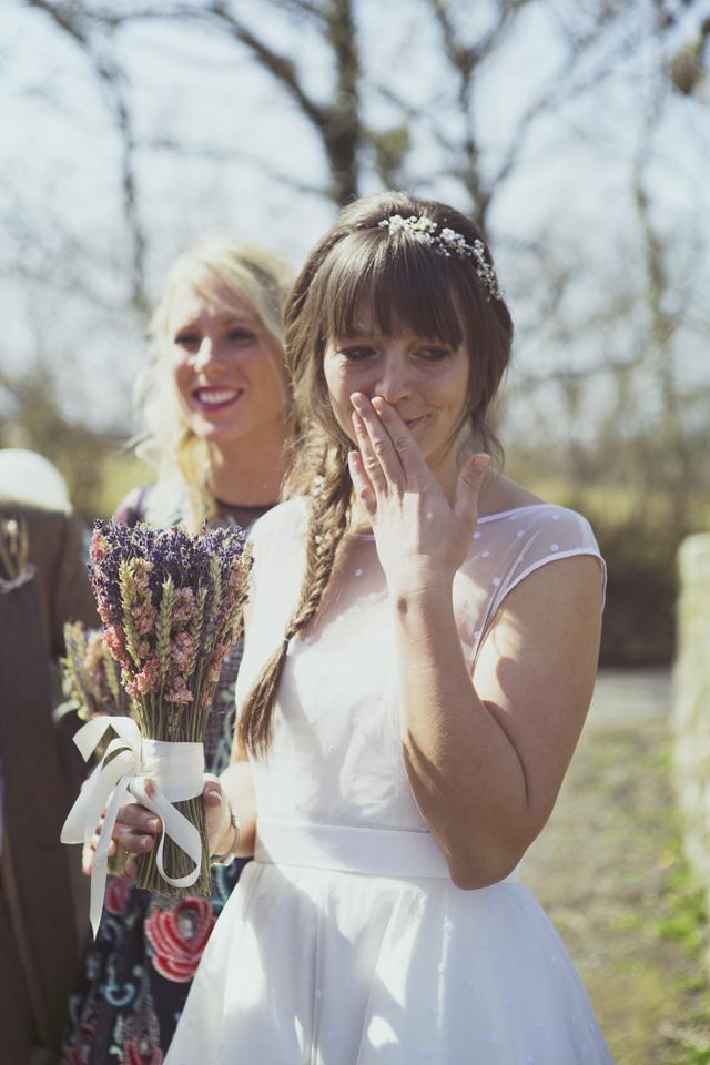 dried flower bouquet wedding bride