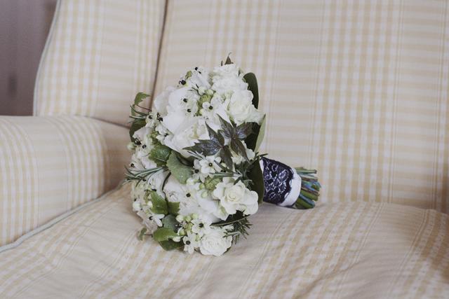 Lovely Black + White   Vintage Inspired Wedding Bouquet