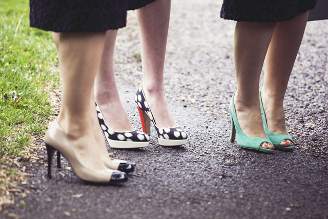 Lovely Black Bridesmaid Dresses   Colourful Shoes