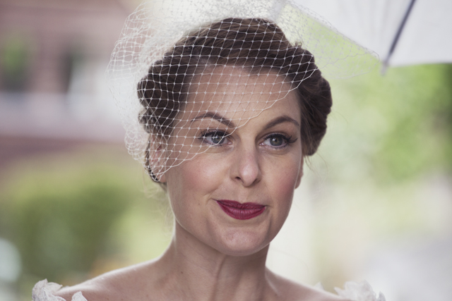 Lovely Black + White | Vintage Inspired Bride: Birdcage Veil