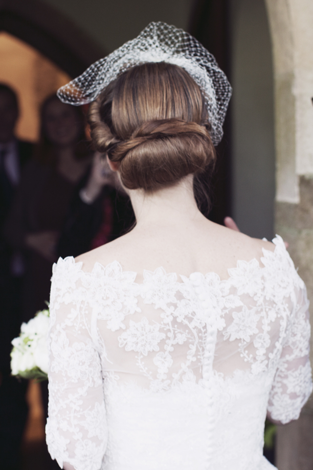 Lovely Black + White | Vintage Inspired: Real Wedding