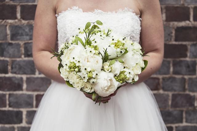 Black & White Wedding Bouquet