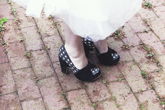 Vintage Bride | Black & White Polka Dot Shoes | Irregular Choice