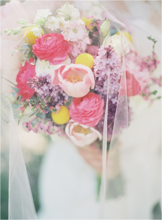 beautiful colourful wedding bouquet