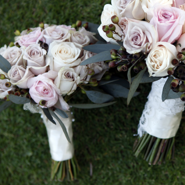 Roses & Peonies | Champagne & Dusty Pink: Real Wedding