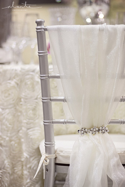 Glamourous brooch wedding Chair cover