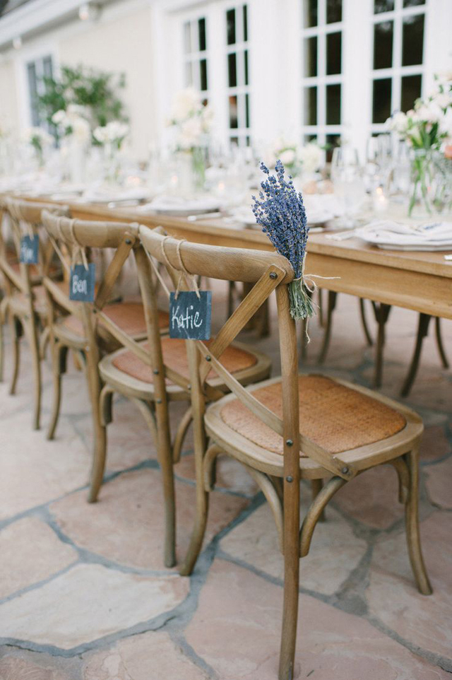 Lavender & Chalkboard chair signage