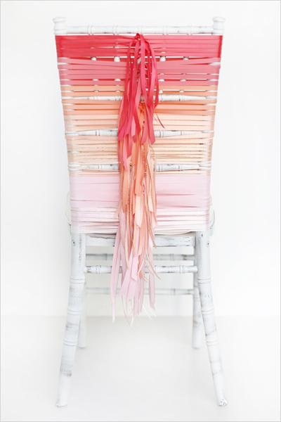 Ombre ribbon chiavari wedding chair