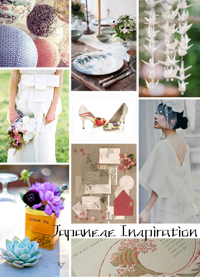 japanese wedding inspiration copy - Asian Wedding Cake Stands