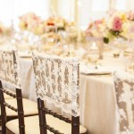 wedding chair ideas - lace wedding chair cover