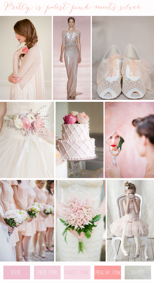 Chic Colour Combinations: Pale Pink + Silver | Wedding Inspiration