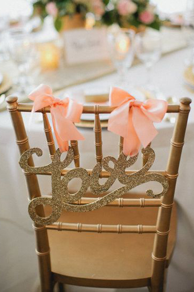 ribbons and sparkles love sign