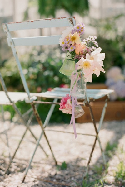 wrought iron wedding chairs
