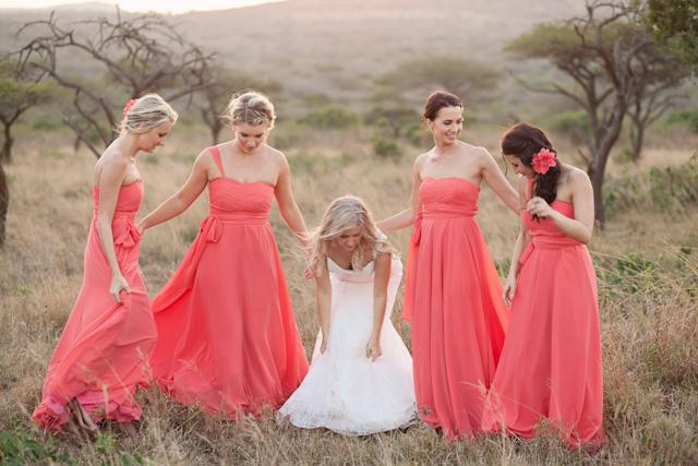 Elegant Outdoor   African Bush: Real Wedding