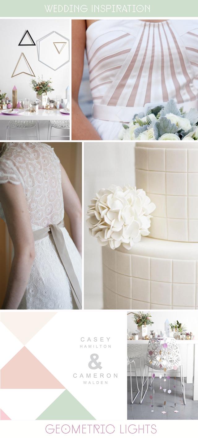 geometric wedding inspiration & ideas