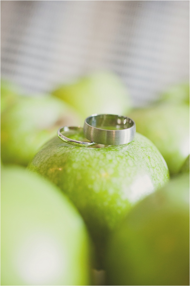Green, White & Grey | Apple & Subtle Polka Dots Real Wedding