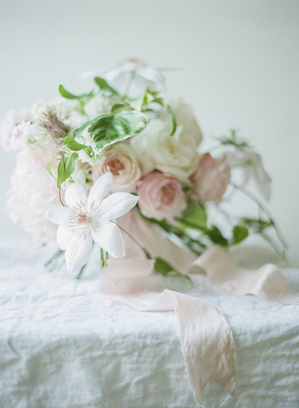 The Palest Of Pinks | Wedding Inspiration: Colours: Palest Pink Bouquet