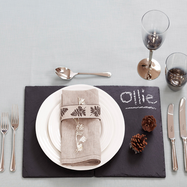 Slate Table Setting