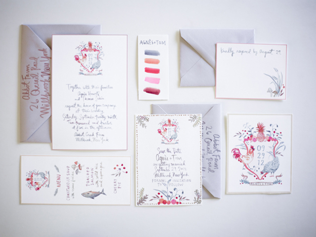 oncewed.com_wedding-ideas-blog_watercolor-wedding-stationary-suite_ b